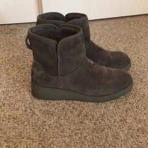 Ugg Australia Grey wedge booties Aimee Boots 9.5